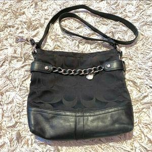 Black coach crossbody purse
